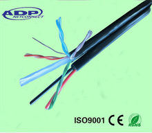 network lan cable with 2c power wire cat5e / CAT6 cable Lan Cable power outdoor indoor use