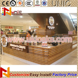 2015 wooden bakery display counter hot food showcase from China