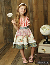 fall flower pattern toddler dress children soft cotton boutique dress