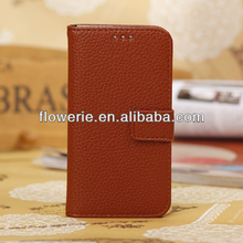 FL2790 2013 Guangzhou hot selling litchi pattern stand leather flip case cover for samsung galaxy s4 mini i9190