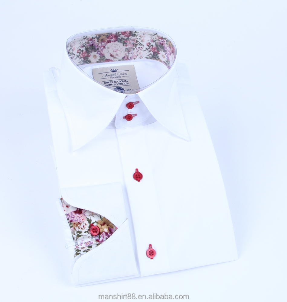Latest design contrast color collar inside cuffs multiple for Mens dress shirts with different colored cuffs and collars