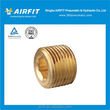 brass hex socket plug / brass pipe fitting / copper hose fitting with factory price