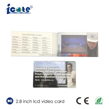 Cote 2.8 Inch TFT Lcd Module Video Advertising Player Brochure