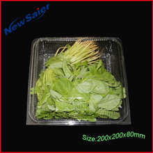 PET 250g disposable plastic vegetable clear container