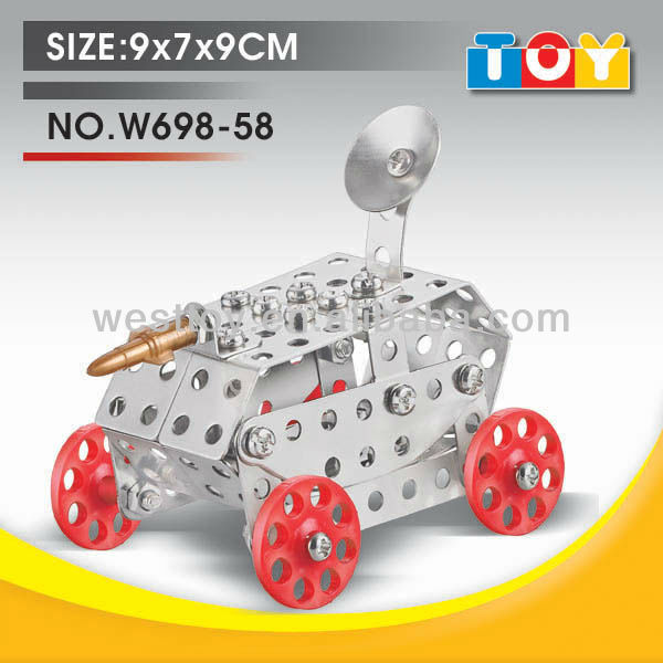 Fashion DIY item tank metal educational toy