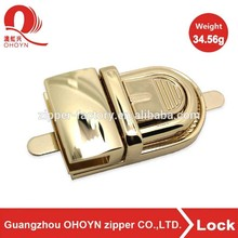 Classical bag hardware gold metal briefcase locks and clasps, briefcase locks