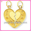 "New arrival double heart engrave words "" i love you"" fashion pendant charms"