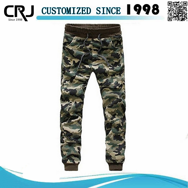 CustomFashion Army Print Trousers For Men, Military Jogger Pants