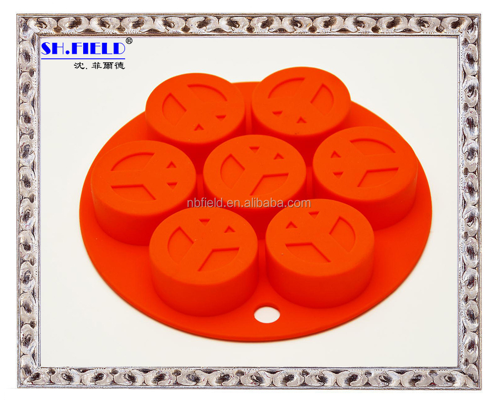 10 cup lovely heart shape silicone ice cube tray
