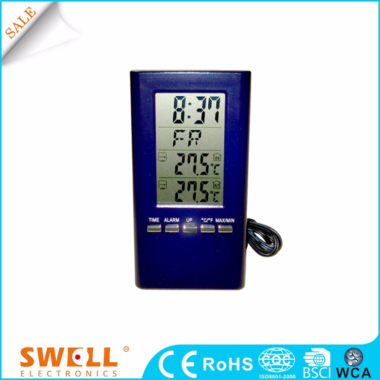 lcd Wired digital calendar clock , digital clock with calendar