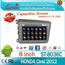 In dash android multimedia car DVD player with Navigation for Honda Civic 2012