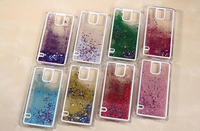 Transparent Dynamic Liquid Glitter Quicksand Star Phone cases for Samsung note2 S5 note5