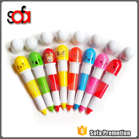 2016 good quality and cheap attractive designs molded pvc pen