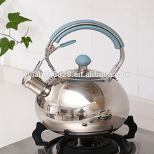 Factory stainless steel silicone handle 3L whistling kettle for sale With Good Service
