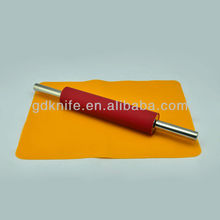 Silicone mat,stainless steel silicone rolling pin