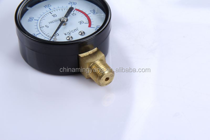 Special Design Durable Light Weight Easy To Read Clear File 1inch paintball mini 350bar high air pressure gauge