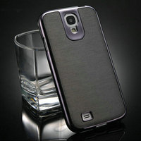 Hot selling high quality PU +PC leather sticker for samsung galaxy s4 i9500 cover