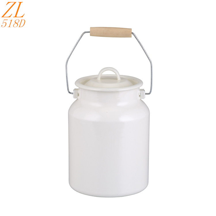 Emaye jug pitcher Enamel milk can With Lids