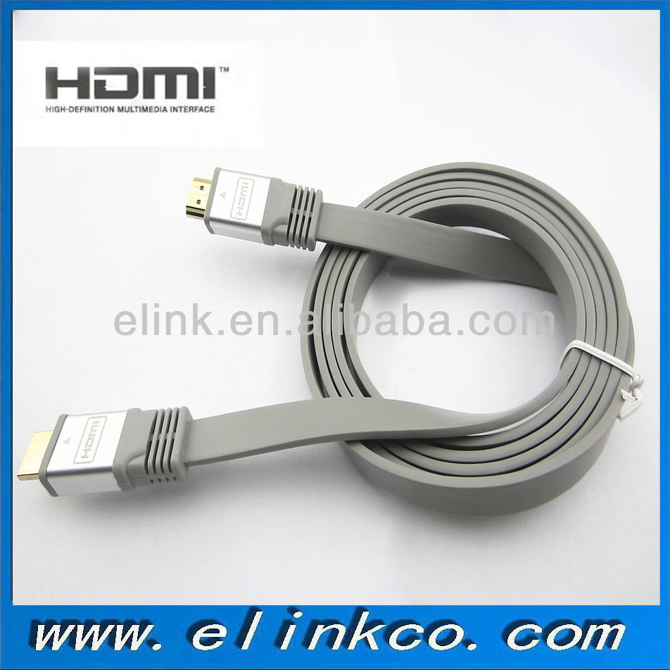 Free sample flat hdmi cable support 3D 4K 1080P 1.5m 2m 3m 10m