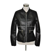 New Collection Fashion Women PU Leather Jacket