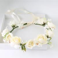 Silk flower crown accessories wedding bridal flower crown