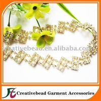 SS12 Rhinestone Cup Chain Transparent Rhinestone Banding SS12 AB Crystal RhinestoneTrimming Accept Mix color Chain /Trimming