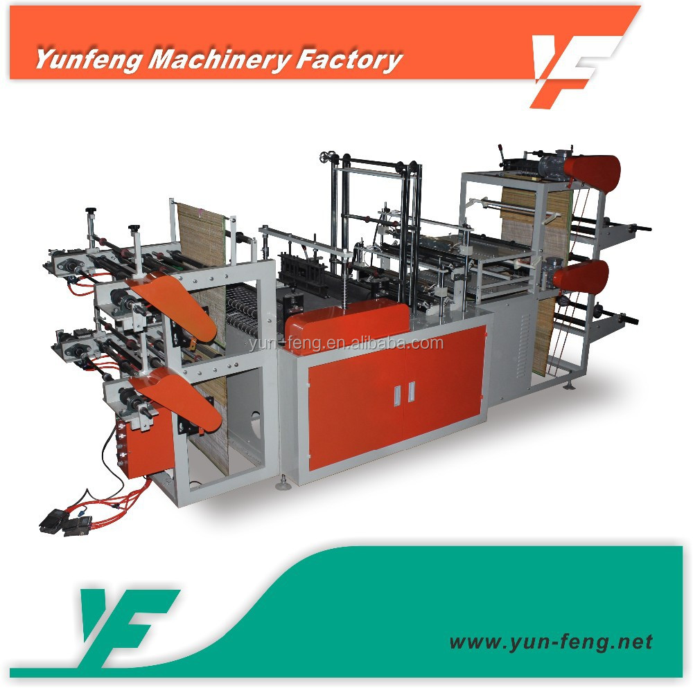 YF-R500-600 Computer control shopping plastic carry bag making machine price