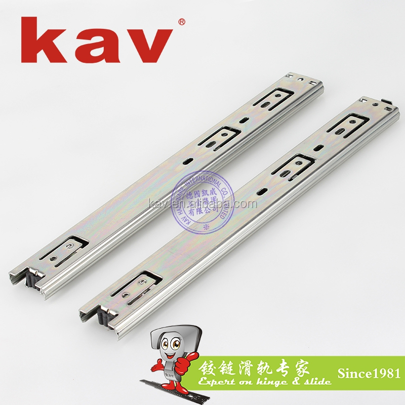 furniture hardware ball bearing slides rail l-shaped kitchen cabinet drawer slide (C37310)