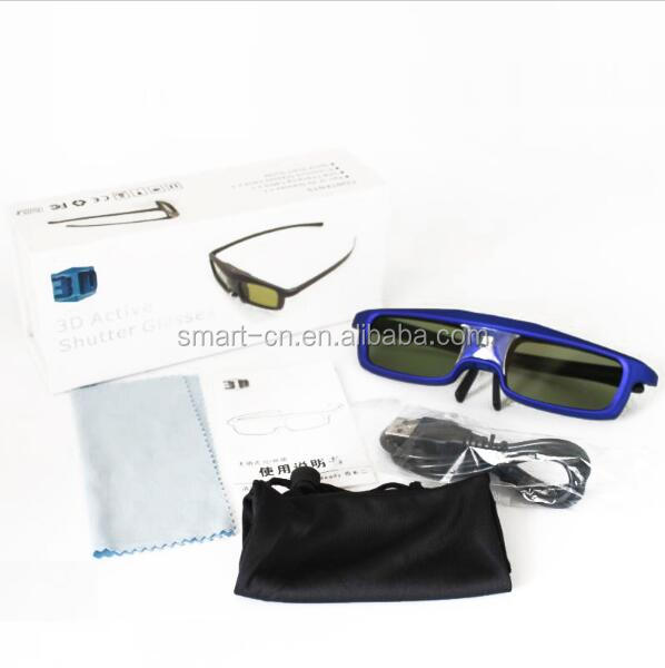 cheap good quality 3D Active Shutter Glasses Rechargeable for 3D DLP-Link Ready Projector