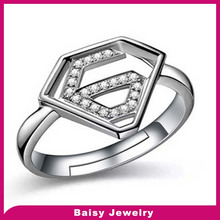 wholesale popuar Adjustable 925 silver superman wedding ring