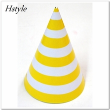 Party Supplies Solid Color Stripe Polka Dot Chevron Party Paper Hats SB007