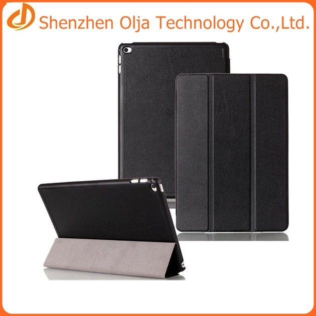 3 folding tablet leather case for apple ipad air 2,for ipad air 2 case