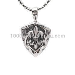 Fashion Silver fleur de lis pendant necklace