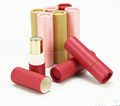 2017 high quanlity Spot Supply Female 4g red pink yellow round paper lipstick tube for cosmetic package gift