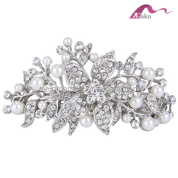 Elegant New Hot Style Custom Metal Crystal Bow Tie Decorative Hairpins For Hair Accessories