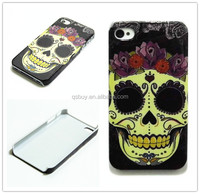 Cheap deal high quality Gold Skull design cell phone case cover skin for iphone 4 4g 4s case