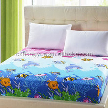 Woven Plain printed polyester bedsheet textile fabric for home/Yarn dyed polyester bed sheet fabric