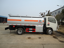2015 Euor IV 4000L Dongfeng mini fuel tanker truck, 4M3 fuel tank for sale