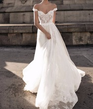 2018 latest designs vestidos de novia Beach Bridal Gowns Puffy Lace Wedding Dress