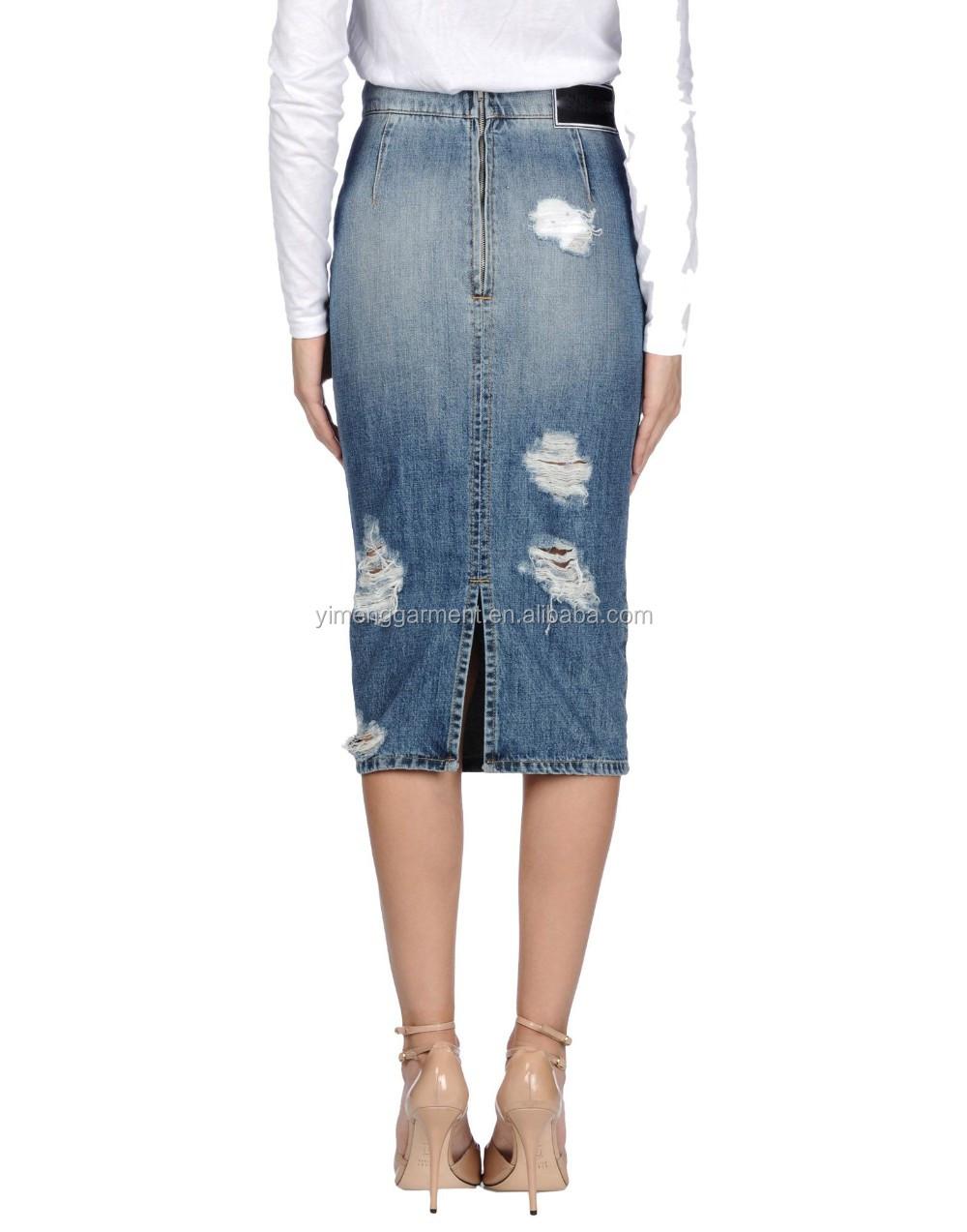wholesale custom blue skirt for new