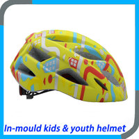 high range in mold road cycling helmet for youth
