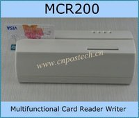 MCR200Track 1&2&3 MCR200 Hico EMV ic Chip Credit Card Magnetic Card Reader Writer bluetooth with two extra serial port expander