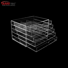 mini thin acrylic cosmetic display with 5 drawers acrylic makeup organizers