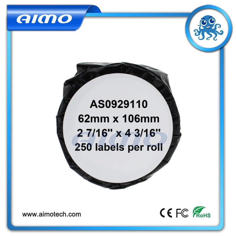 62mm x 106mm*250labels compatible large name badge cards (non-adhesive) labels S0929110 for Dymo