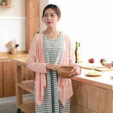 OEM custom made cotton confinement lactation clothes comfortable feeding clothes maternity leisure homewear dress