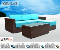 terrace covered rattan plastic furniture sofa