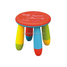 2016 beautiful children furniture plastic kids table round stool chair