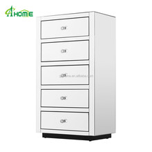 Royal Lingerie Mirrored Tall Boy Chest with 5 Drawers