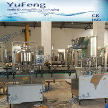 Semi-automatic small capacity water bottling line
