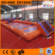 CE approve inflatable sports football arena /soapy football
